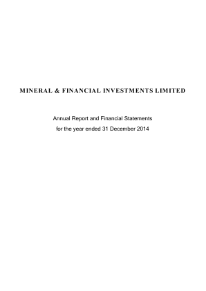 Mineral & Financial Investments annual report 2014