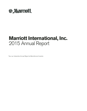 Marriott International Inc. annual report 2015