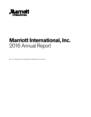Marriott International Inc. annual report 2016
