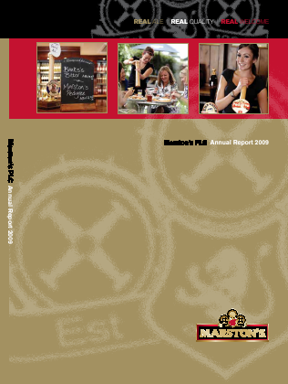 Marstons Plc annual report 2009
