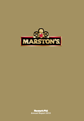 Marstons Plc annual report 2010
