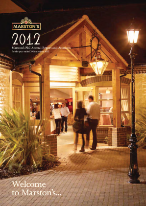 Marstons Plc annual report 2012