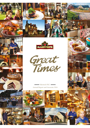 Marstons Plc annual report 2014