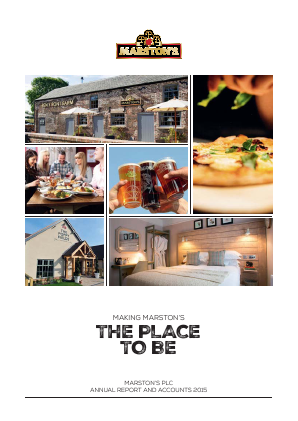 Marstons Plc annual report 2015