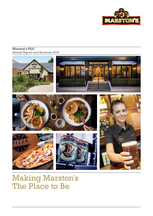 Marstons Plc annual report 2016