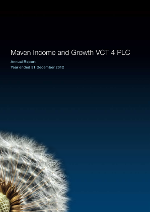 Maven Income & Growth VCT 4 Plc annual report 2012