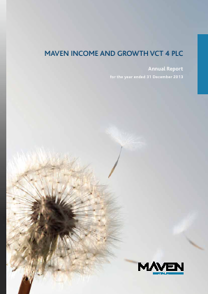 Maven Income & Growth VCT 4 Plc annual report 2013