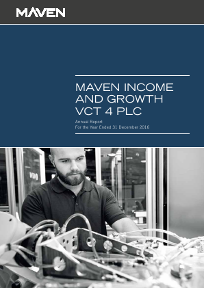 Maven Income & Growth VCT 4 Plc annual report 2016