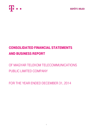 Magyar Telekom Telecommunications annual report 2014
