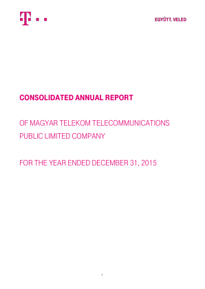 Magyar Telekom Telecommunications annual report 2015