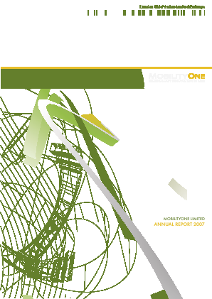 Mobilityone annual report 2007