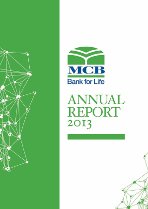 MCB Bank annual report 2013