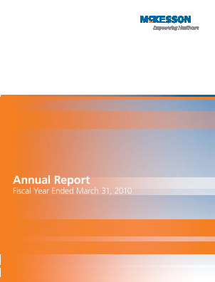 McKesson annual report 2010