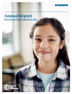 McKesson annual report 2012