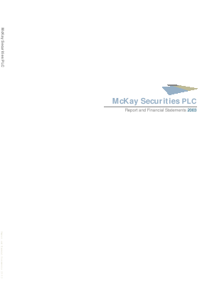 Mckay Securities annual report 2003