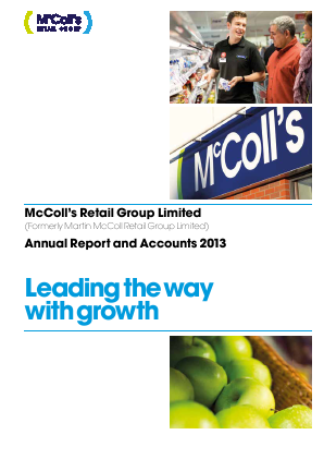 Mccoll�s Retail Group Plc annual report 2013