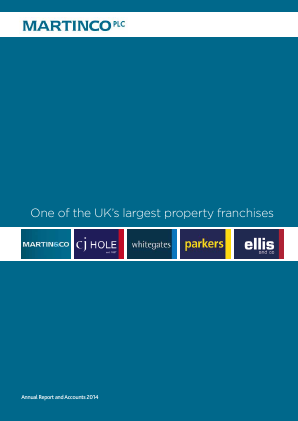 The Property Franchise Group (previously Martinco) annual report 2014