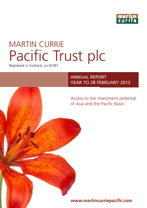 Martin Currie Asia Unconstrained Trust annual report 2013
