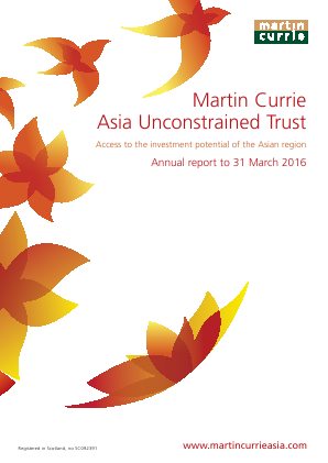 Martin Currie Asia Unconstrained Trust annual report 2016