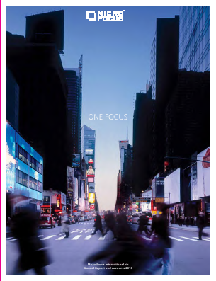 Micro Focus International annual report 2010