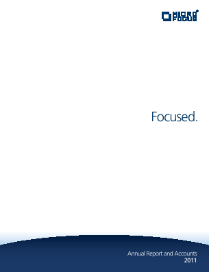 Micro Focus International annual report 2011
