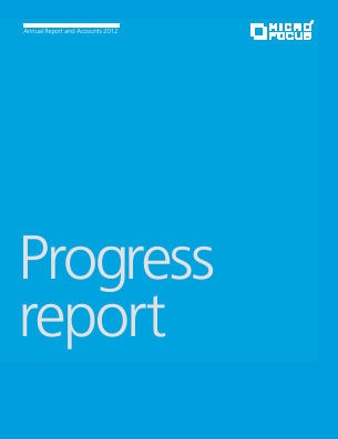Micro Focus International annual report 2012
