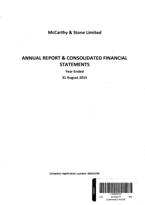 McCarthy & Stone annual report 2015
