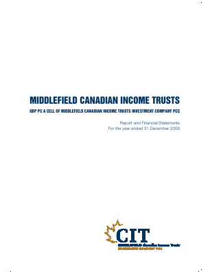 Middlefield Canadian Income PCC annual report 2008