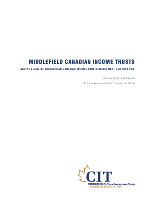 Middlefield Canadian Income PCC annual report 2010