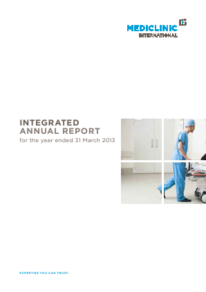 Mediclinic International annual report 2013