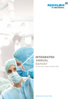 Mediclinic International annual report 2015