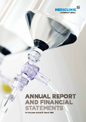 Mediclinic International annual report 2016