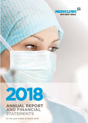 Mediclinic International annual report 2018