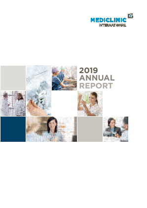 Mediclinic International annual report 2019