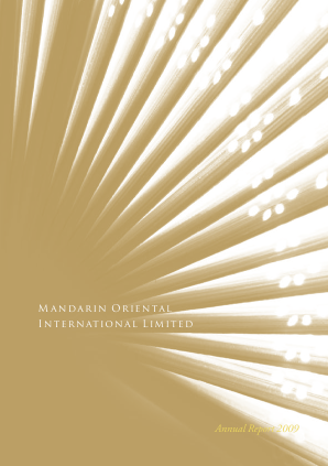Mandarin Oriental International annual report 2009