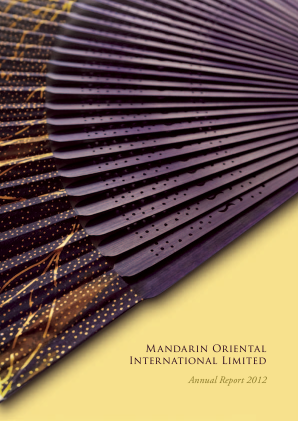 Mandarin Oriental International annual report 2012