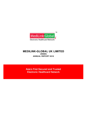 Medilink-global UK annual report 2010