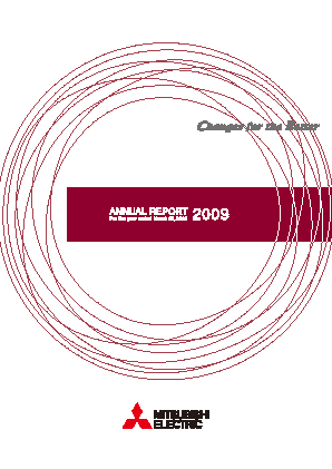 Mitsubishi Electric Corp annual report 2009