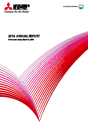 Mitsubishi Electric Corp annual report 2016