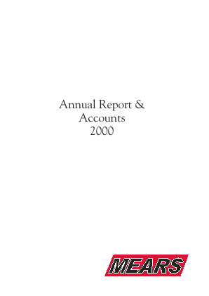 Mears Group annual report 2000