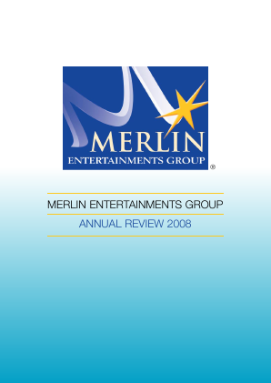 Merlin Entertainments Plc annual report 2008