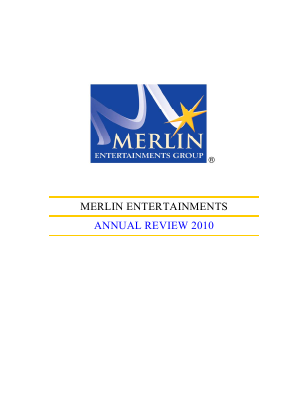 Merlin Entertainments Plc annual report 2010