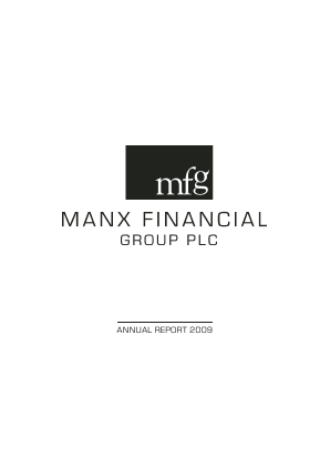 Manx Financial Group Plc annual report 2009