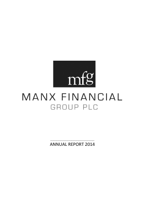 Manx Financial Group Plc annual report 2014