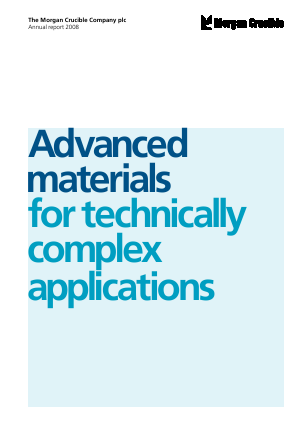 Morgan Advanced Materials Plc annual report 2008