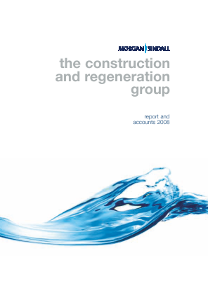 Morgan Sindall Group Plc annual report 2008