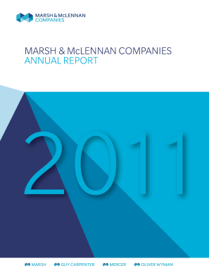 Marsh & Mclennan Cos Inc annual report 2011