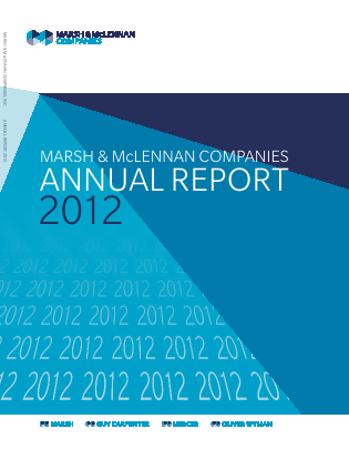 Marsh & Mclennan Cos Inc annual report 2012