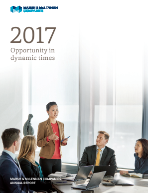 Marsh & Mclennan Cos Inc annual report 2017
