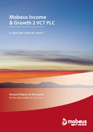 Mobeus Income & Growth 2 VCT Plc annual report 2013
